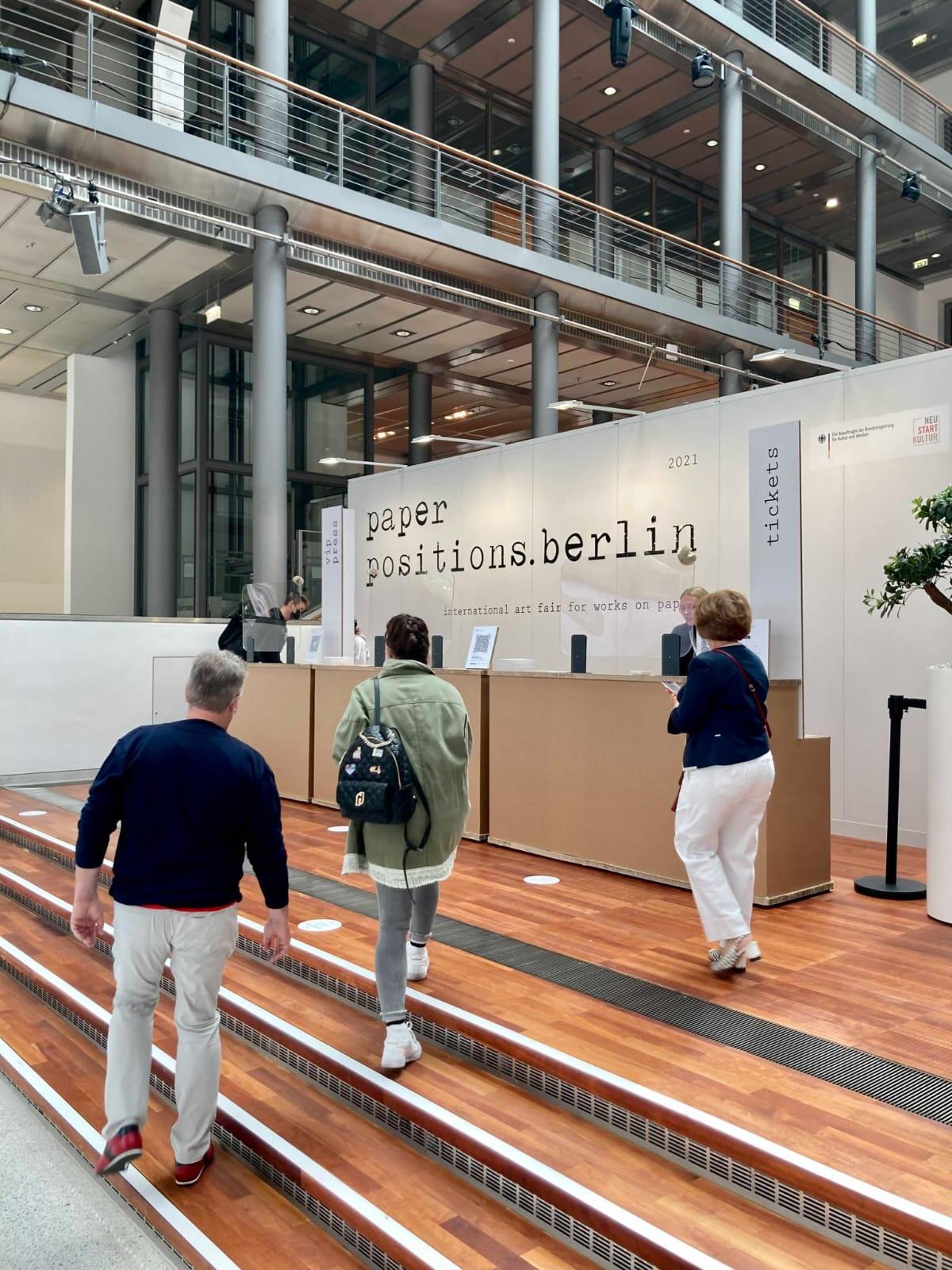 Einzige verbliebene Kunstmesse in Berlin: Positions; Foto Heinrichs Carstens